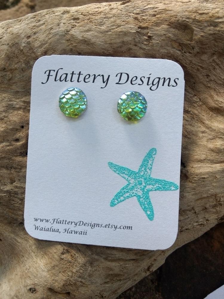 listed Mermaid Stud Earrings gr - flatterydesigns | ello