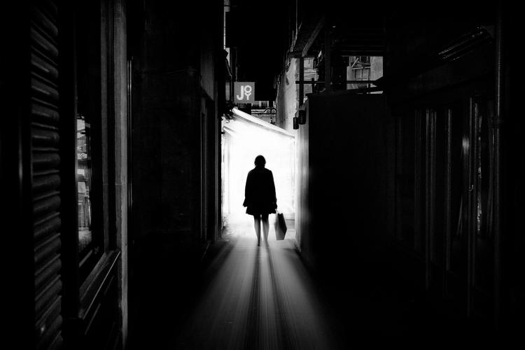 Alleyway woman silhouette  - Bath, - dazsmith | ello