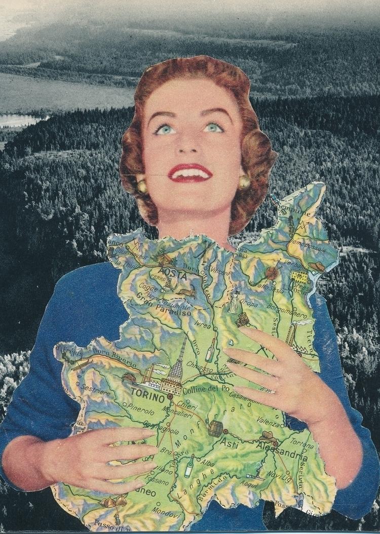 Safe cutpaste/2017 - lady, newwork - papiergedanken-collage-art | ello