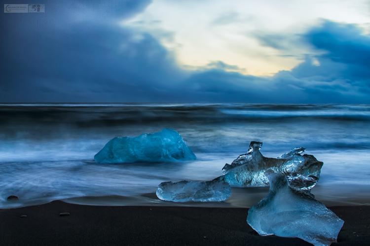 crystalline beach Iceland - malloryontravel | ello