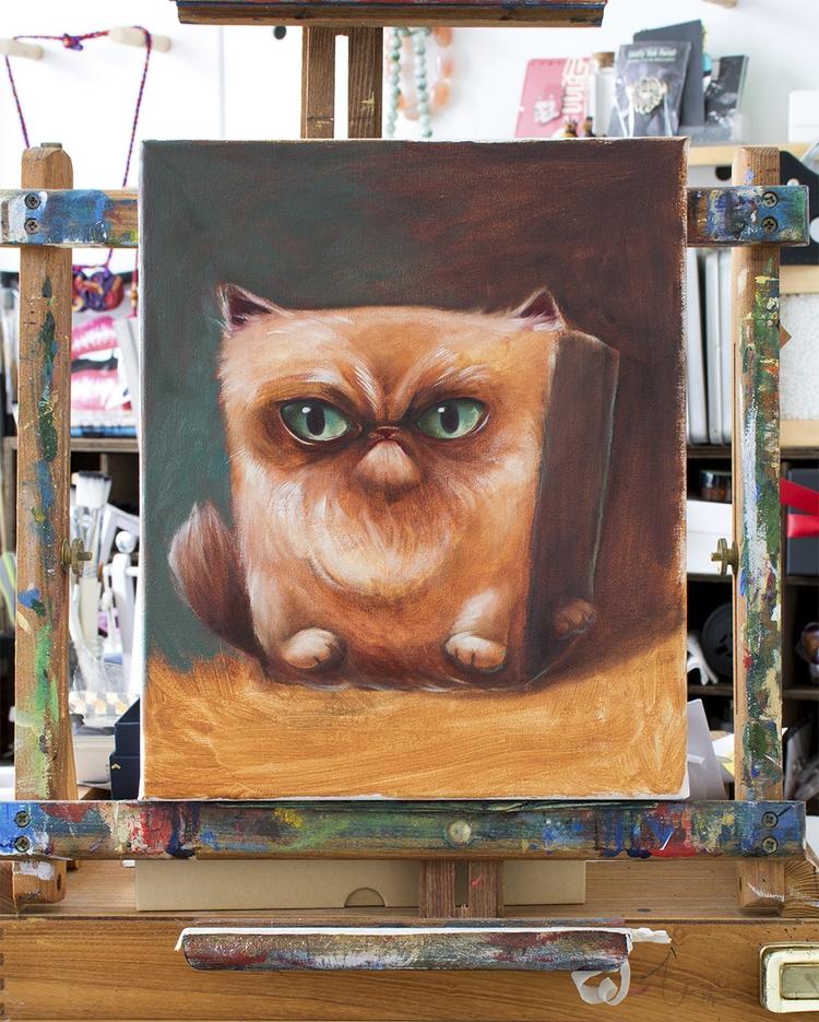 CubeCat oil paintings - popsurrealsim - malangeo | ello