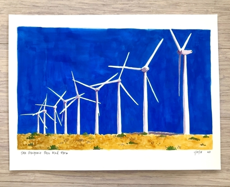 San Gorgonio Pass Wind Farm. cr - angela_oliver_art | ello