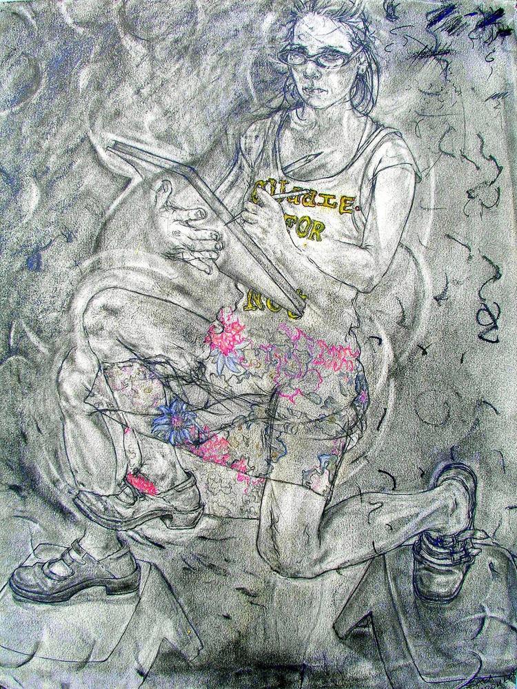 'Groping Forms', pastel, oil Ca - saracnordmark | ello