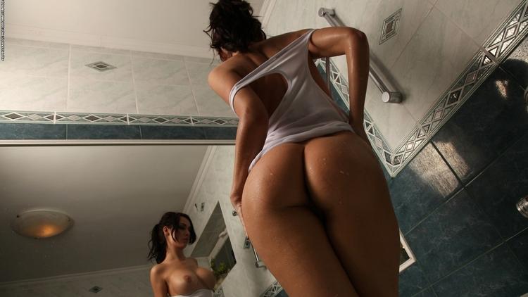 ass, tits, boobs, brunette, nsfw - guermo   ello
