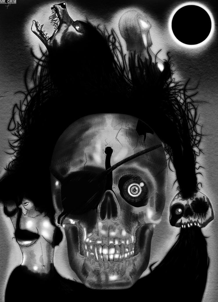 Lazarus Reflection - horror, skull - mistergrim23 | ello
