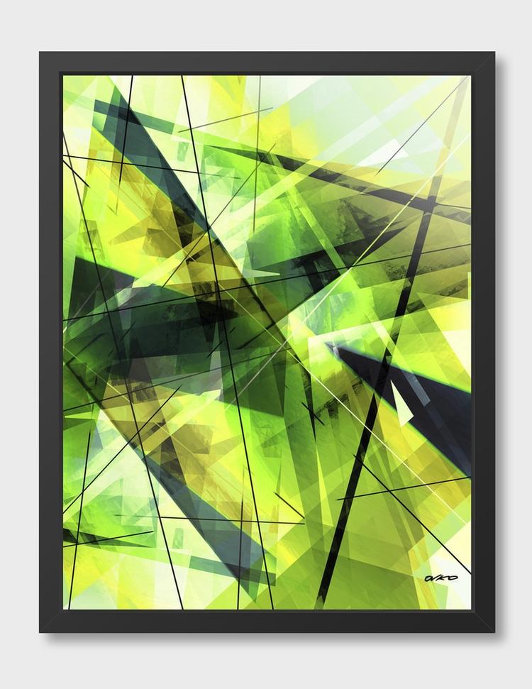 'Vitalize' Geometric Abstract A - ovko   ello