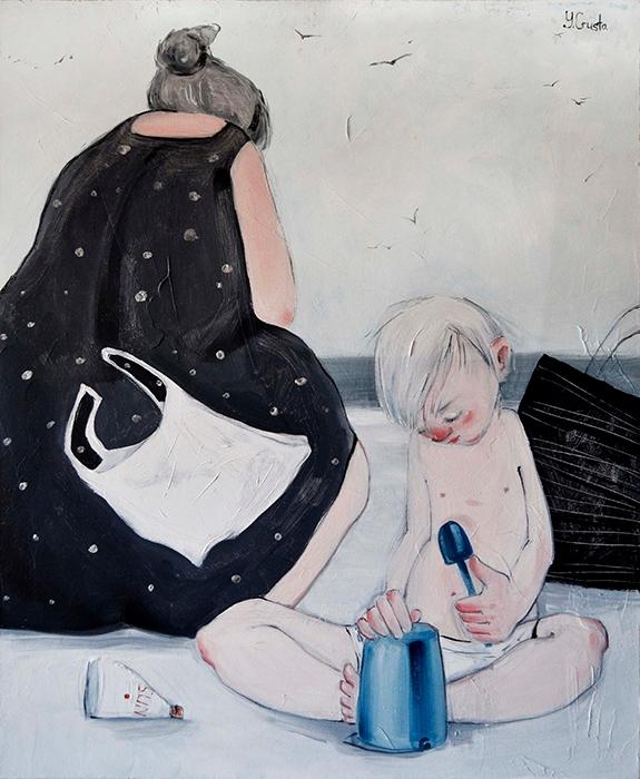 Quiet Mixed media canvas. 54 65 - yanagusto | ello