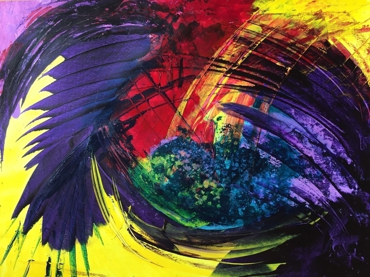 abstract#expressionism#colorful#minimalism#gesture#rainbow - florencebarre | ello