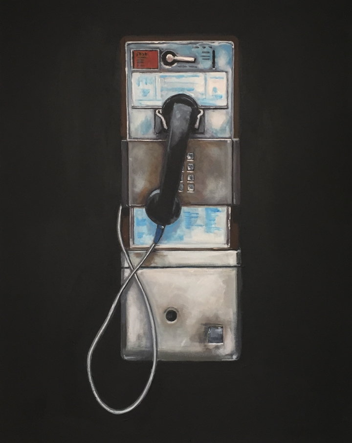 PAYPHONE 30x24 acrylic/canvas - payphone - jeffbessart | ello