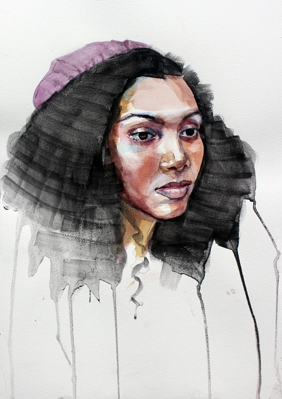 Taneisha, 20x28, watercolor - nancybea | ello