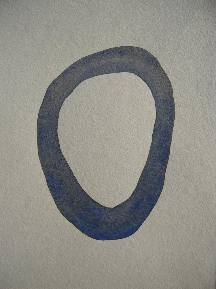 Blue Silence (1) Watercolor ink - uleedee   ello