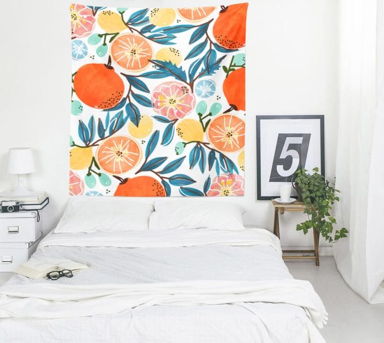 'Fruit Shower' Tapestry Decor - society6 - 83oranges | ello