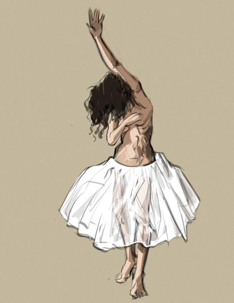 Nude dancer sketched Mischief d - alifedoodler | ello