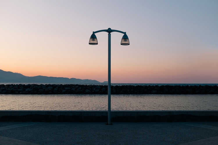 Serie Crete - sea, bluehour, sunset - adrienblot | ello