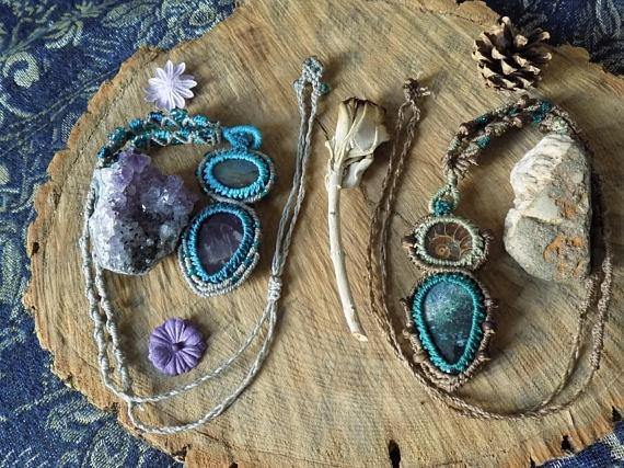 Cute double collection! Ocean W - tangleshandmade | ello