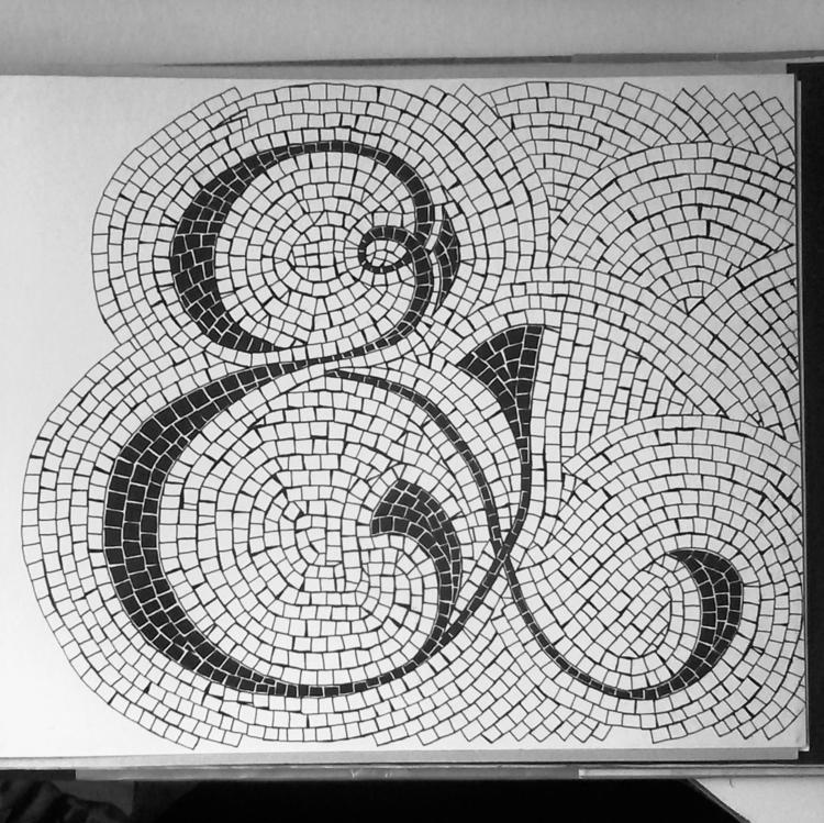 Experiment mosaic texture lette - lettergraphic | ello