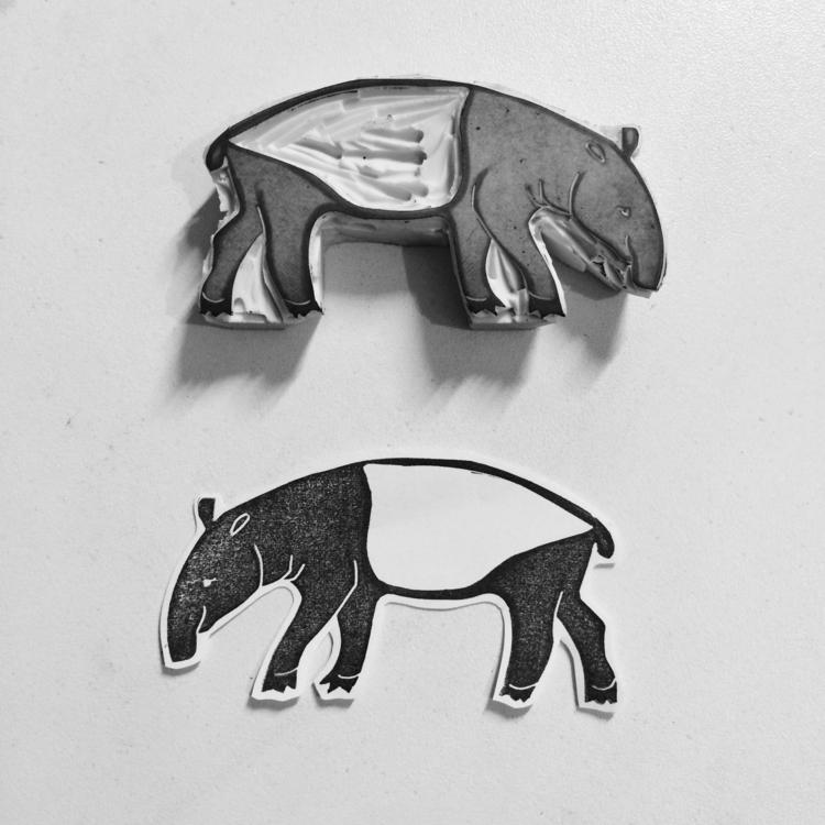 Christmas custom stamps tapir o - studiomalu | ello