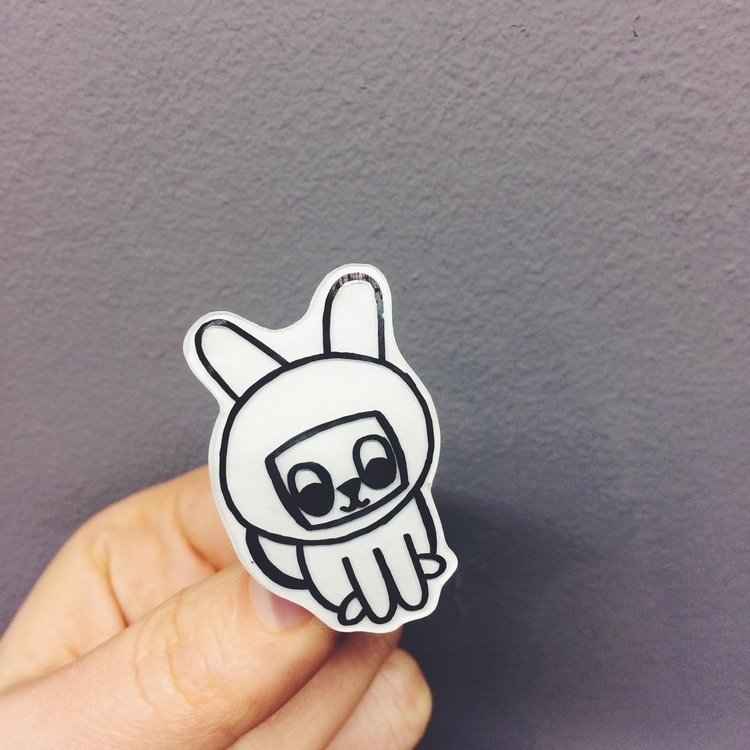 Space bunny pin - space, spacebunny - studiomalu | ello