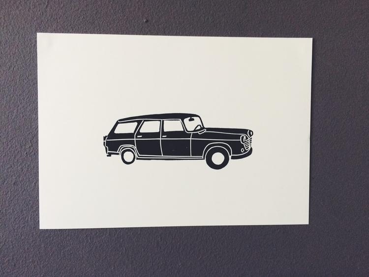 car, oldcar, illustration, illustrator - studiomalu | ello