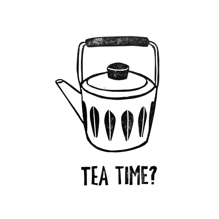 vintage, tea, teatime, illustration - studiomalu | ello