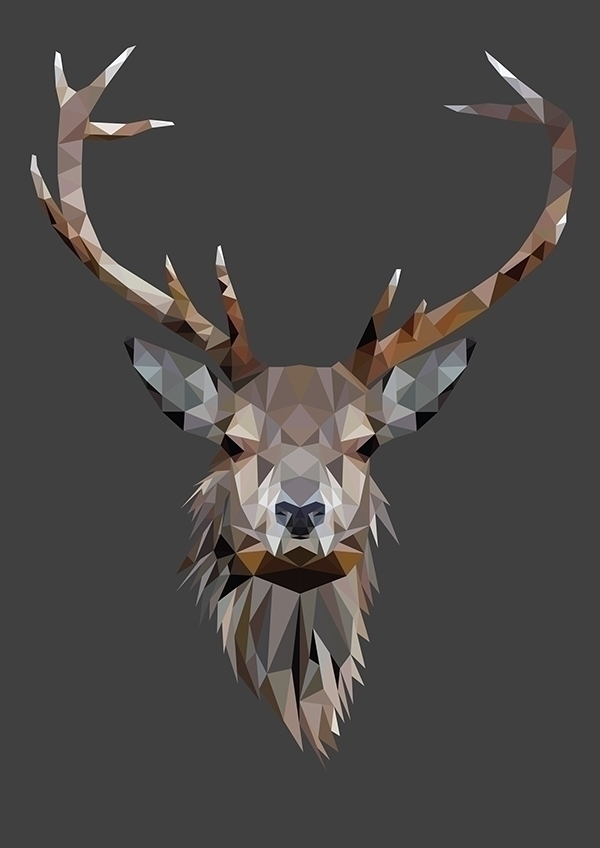 poly Deer illustration. Part ba - zombiku | ello