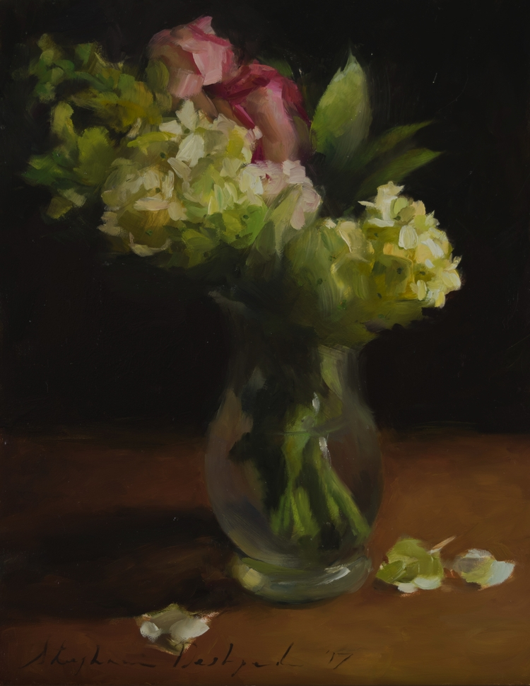 Hydrangeas, Oil Panel, 14x11 - stephaniedesh | ello