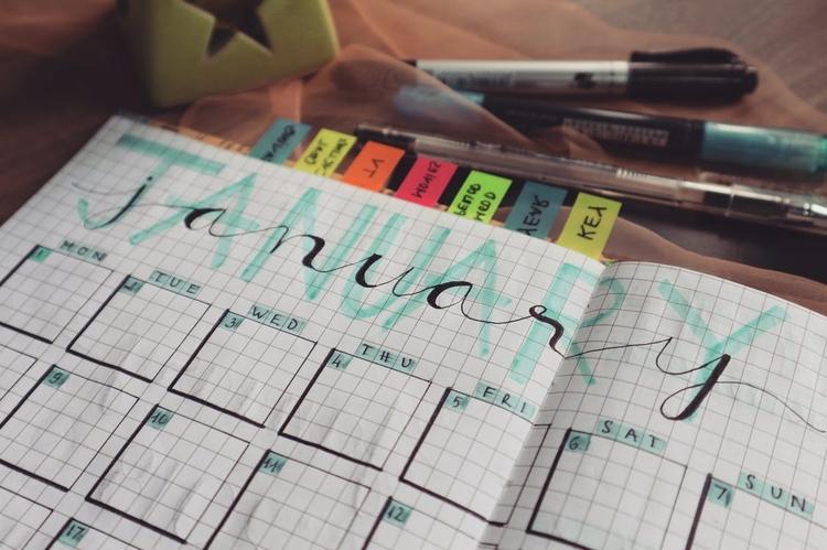 lovely January planner filled C - barbaramorgan | ello