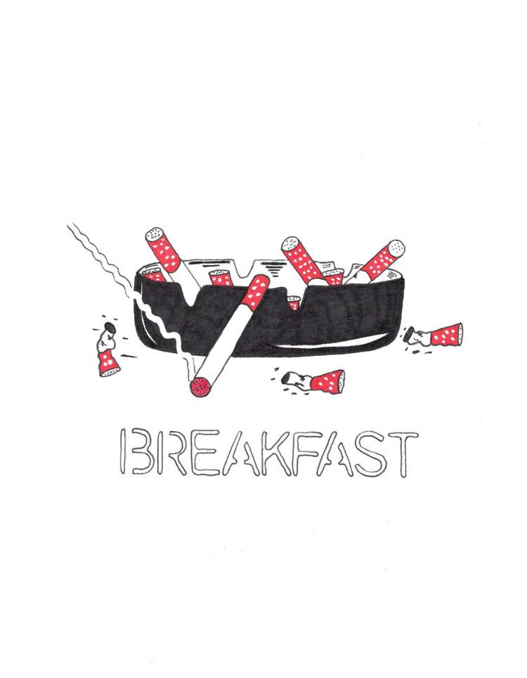 Breakfast. Illustration Andy - art - futureluddite | ello