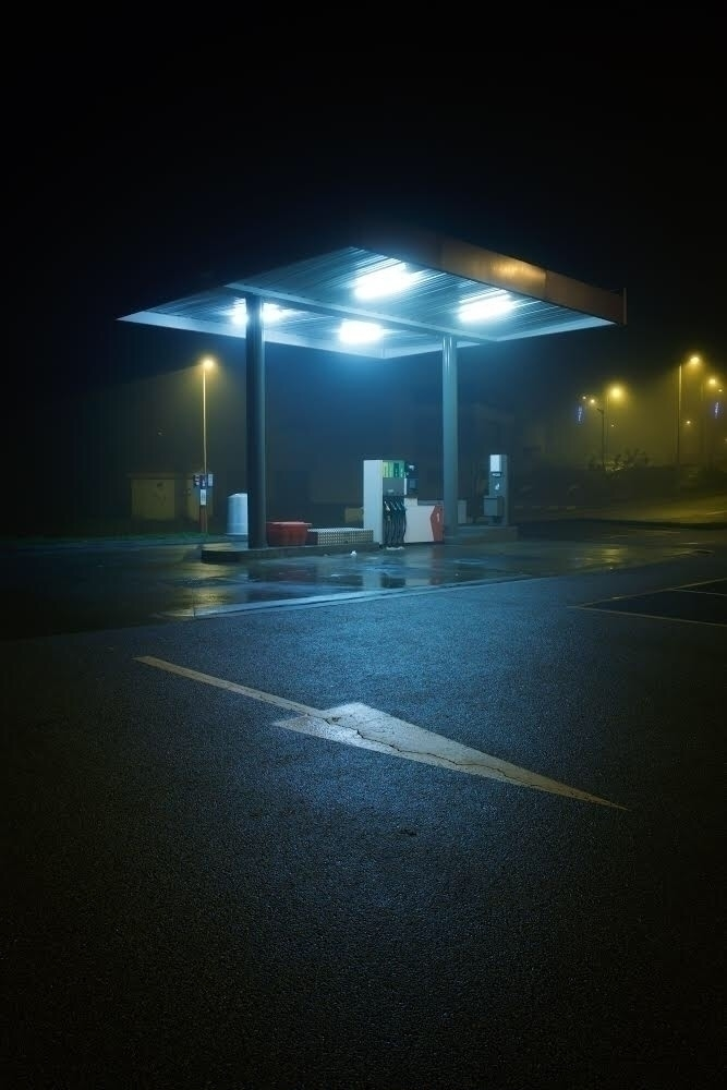 fog, atmosphere, foggy, oilstation - kevinprst | ello