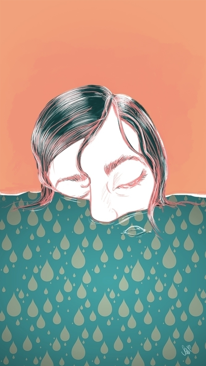 Illustration, drowning, elloart - semia | ello