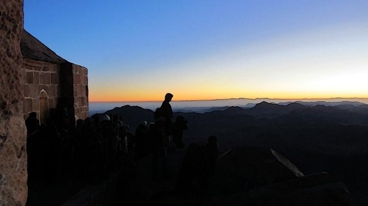 Pilgrims greet dawn day atop ho - allantron | ello