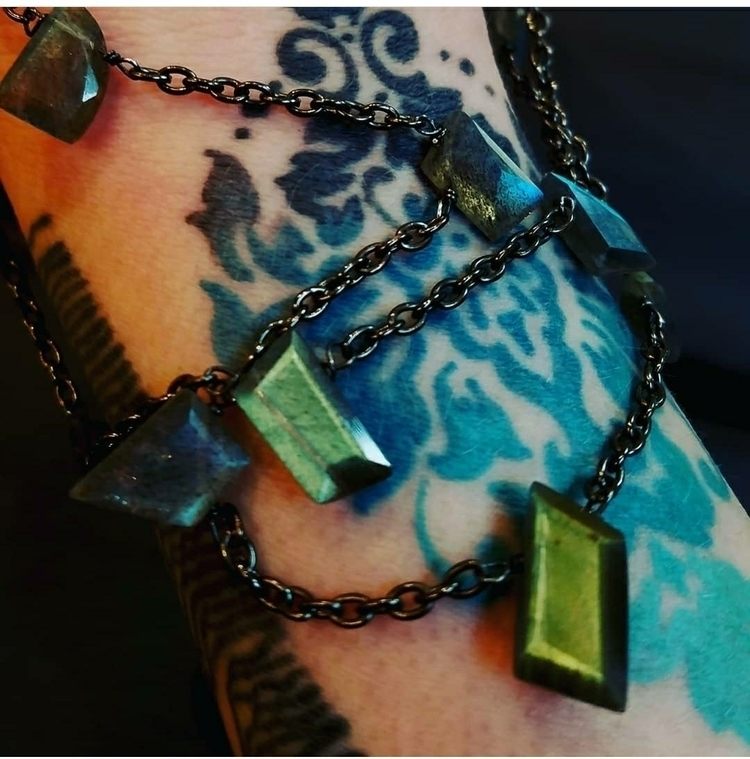 lolafaejewelry, labradorite, layerednecklace - lolafaejewelry | ello