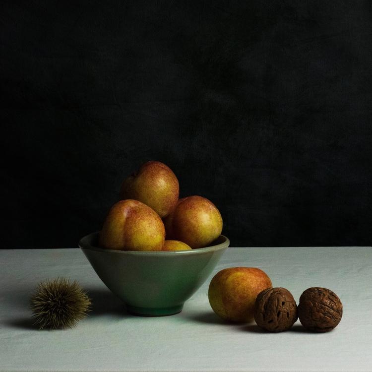 Life: nectarines carved walnuts - bespokephoto | ello