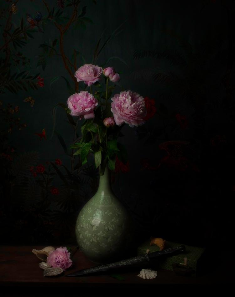 stilllife, peonies, flowers, ceramics - bespokephoto | ello