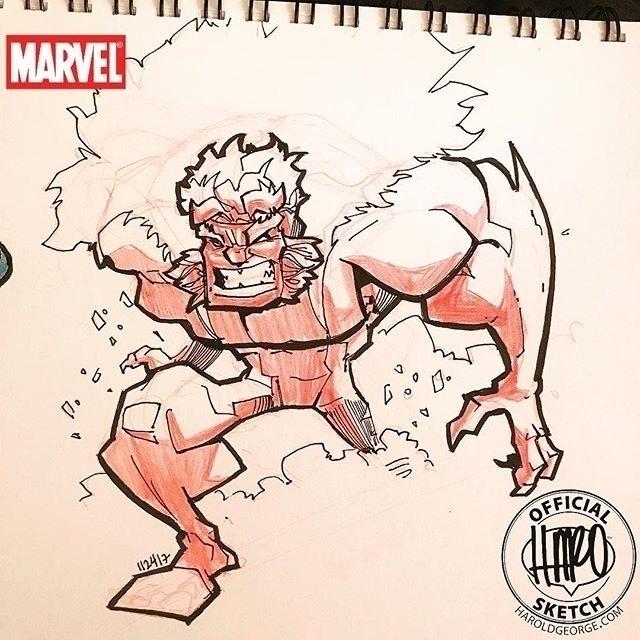 posted Instagram: Sketch though - haroartist   ello