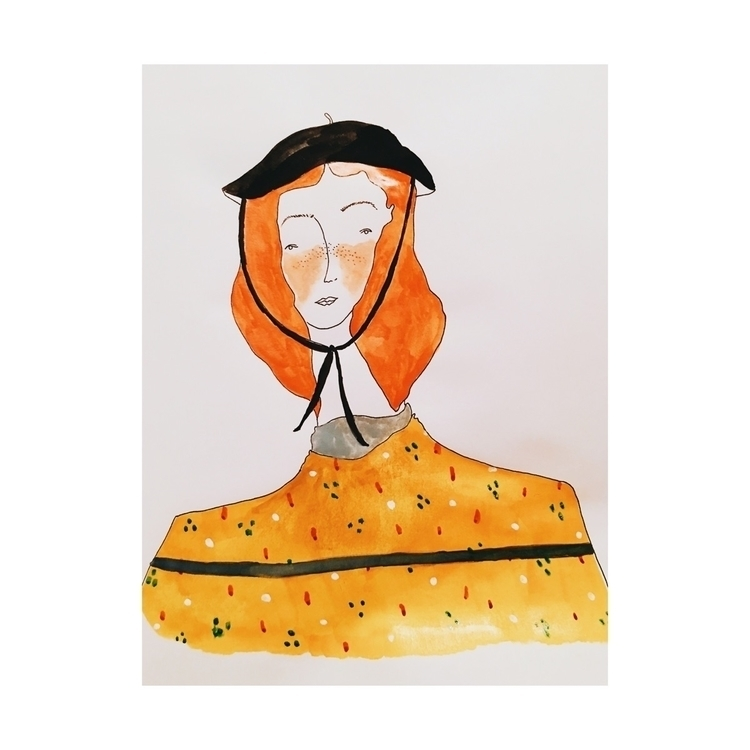 Lady Floppy Hat - art, illustration - sincerelymarren | ello