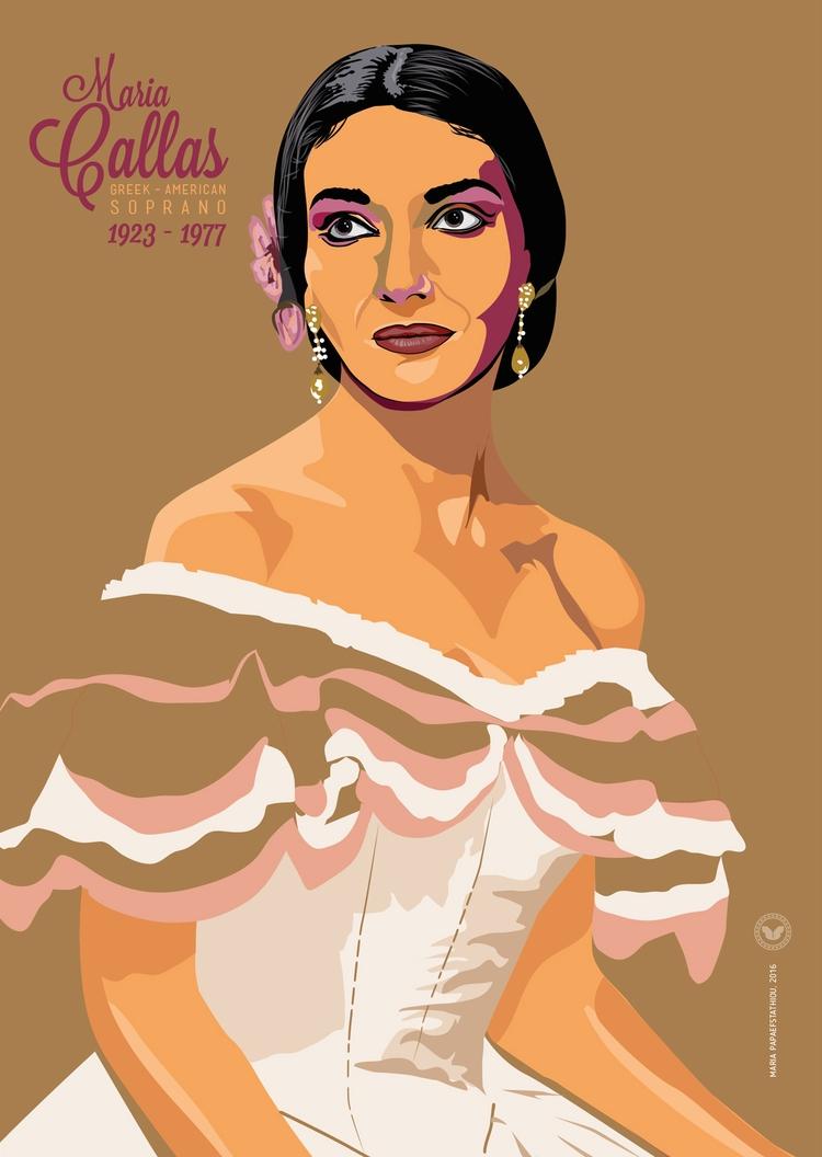 Maria Callas | Portrait poster - itsjustme_posters | ello