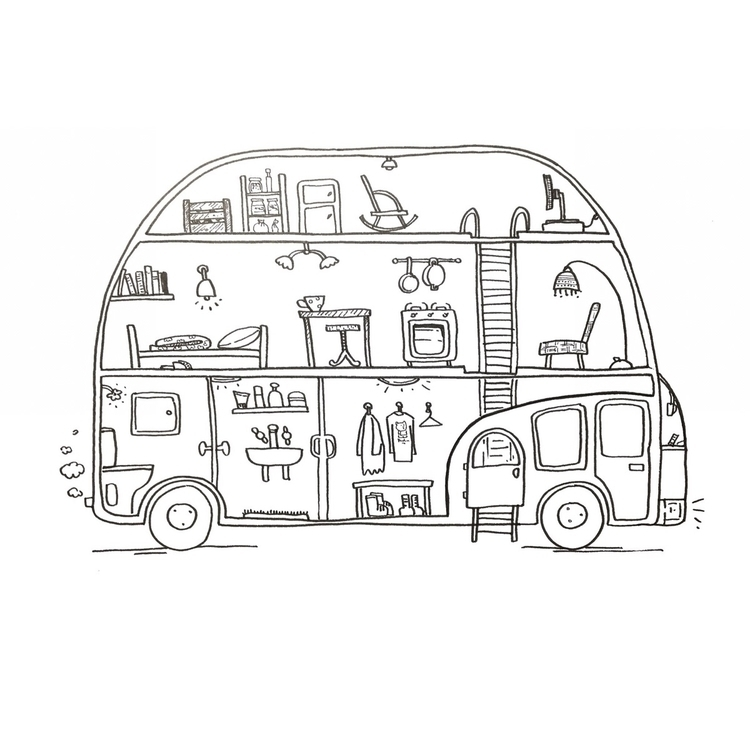house bus, caravan car son - stellepix - stelleries | ello