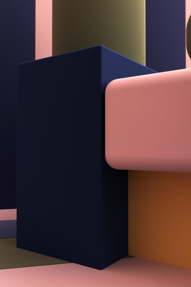 Multicolor 1 - setdesign, 3d, graphicdesign - kmjcr | ello