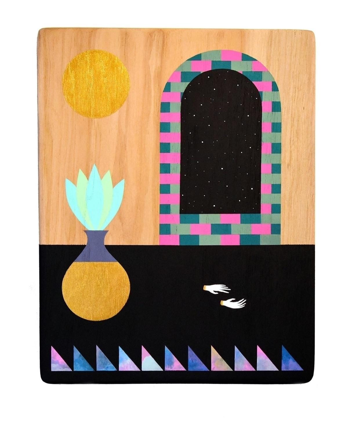 acrylic pecan wood 14 11 inches - adrianlandonbrooks | ello
