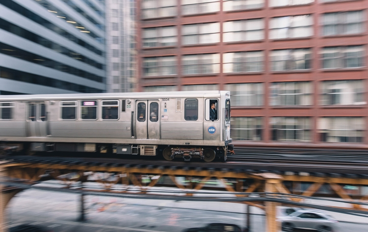 Chicago train - city, urban, motion - kyleniego | ello