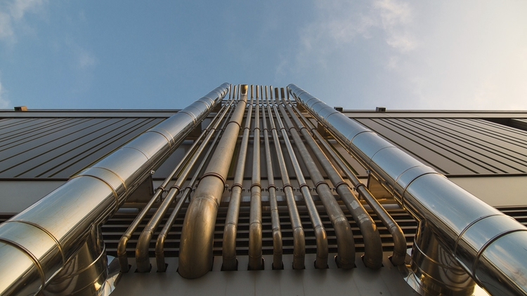 PIPES - chrome, pipes, sky, blue - hoehrbert_van-den_ohrestopjes | ello