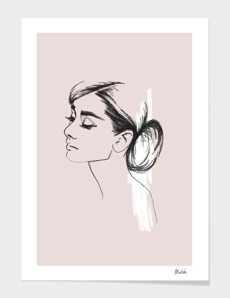 AUDREY Illustrated portrait hol - nadinebatista | ello