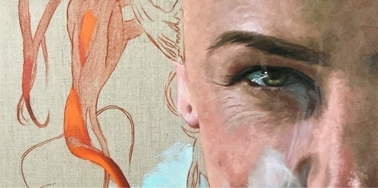 Work progress portrait. ugly un - nadinerobbinsart | ello