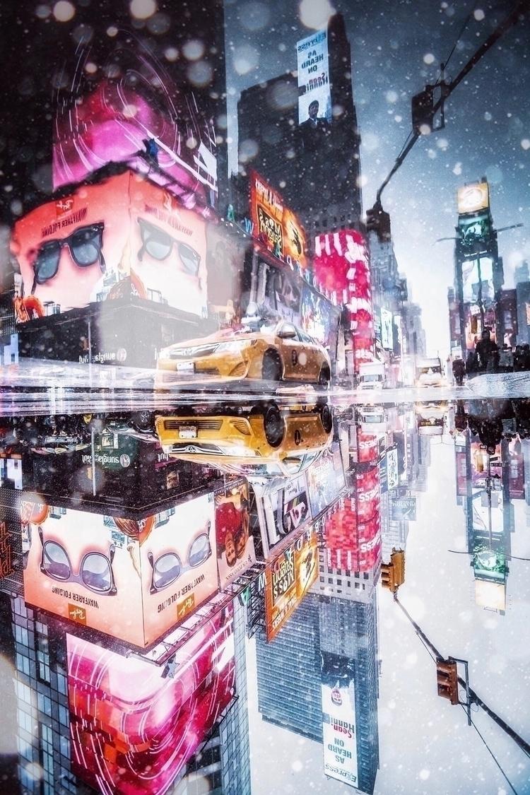 reflection, nyc, newyork, taxi - imthejam | ello