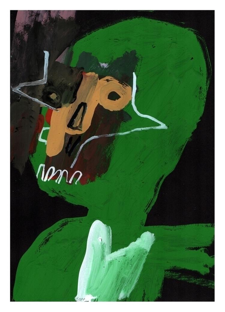 Portrait 32. Gouache black pape - carpmatthew   ello