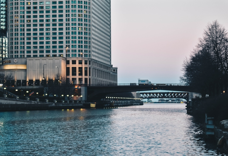 chicago, water, bridge, sunset - thelovelychung | ello