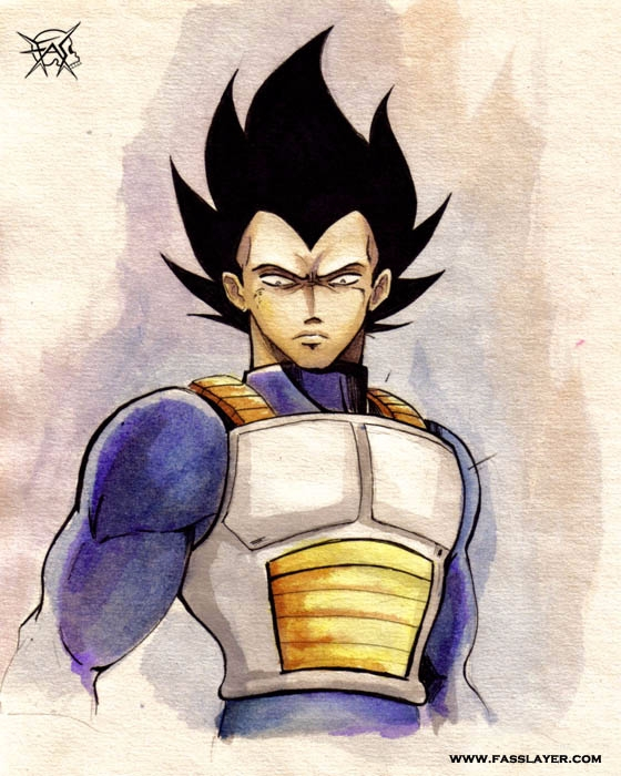 18-1-28 - vegeta, fanart, watercolor - fasslayer | ello