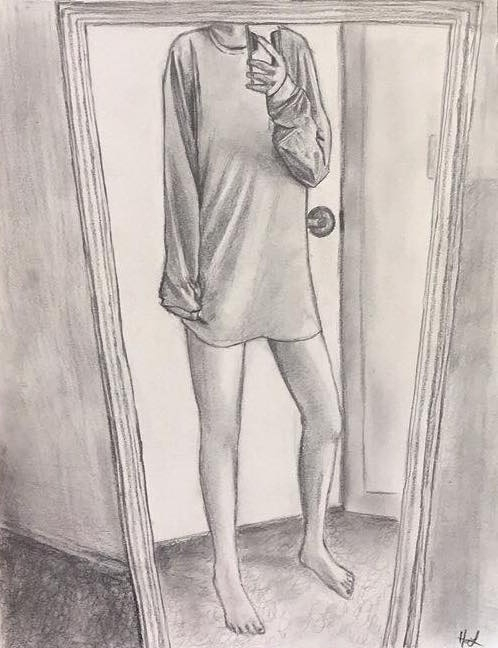 Long shirts long mornings - sketch - hannah_piranha | ello