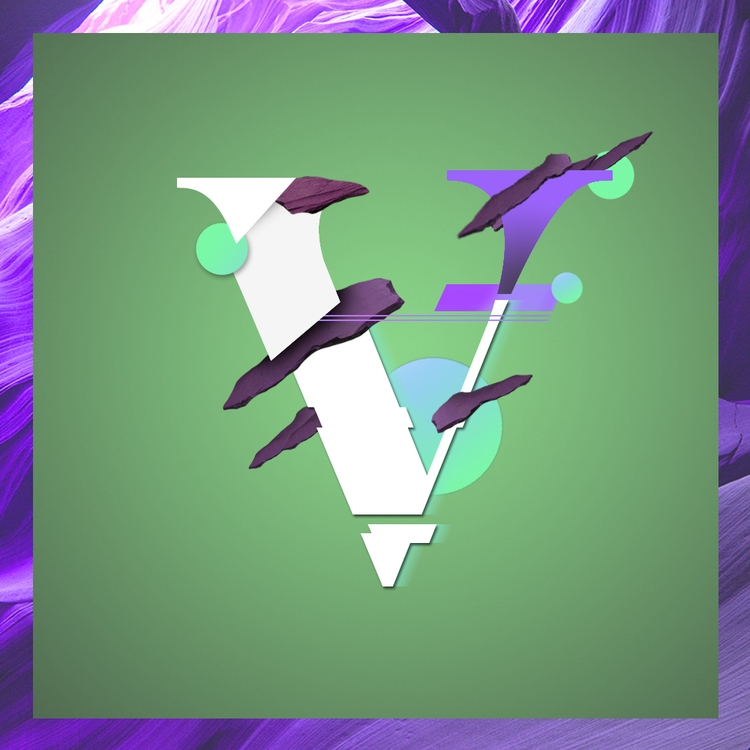violet, vert, typography, design - valenvq | ello